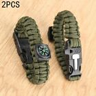 Ultimate Survival Gear Tool Green Survival Bracelet Compass Flint Fire Starter