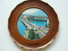 OLD SOUVINIER WOOD COLLECTABLE TRAVEL WALL HANGING PLATE,LUZERN,BRIGE RIVER