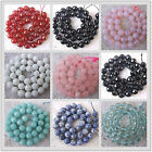 """Wholesale Natural Stone Big Faceted Round Spacer Loose Beads 6MM 8MM 10MM 15.5"""""""