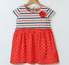 Girls BEEBAY red hearts striped dress 8 9 10 NWT patriotic July 4th Valentines