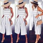 Women's Sleeveless Casual Clubwear Wide Leg Pants Party Jumpsuit&Romper Trousers