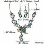 Chic Crystal Butterfly Necklace Earrings Women Jewelry Set Valentine's Day Gift
