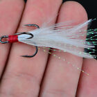 Lot 20pcs Fishing Hooks Treble With Feather Minnow Fishing Lures Crankbait DH