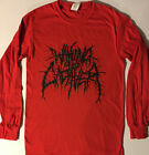 WAKING THE CADAVER- Red Long Sleeve LOGO T-Shirt Death Metal S-XL-FREE Shipping
