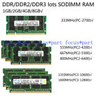 SAMSUNG 2/4GB DDR2 DDR3 667/800/1066/1333/1600MHZ  Laptop SODIMM Memory Ram lot