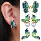 Valentine's Day Butterfly Pearl Crystal Ear Stud Earrings Women Women Jewelry US
