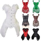 Bridal Steampunk Corset Top Bustier Overbust Gothic Sexy Lingerie Basque Dress