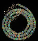 "53CRT 3.5-6 MM17"" NATURAL ETHIOPIAN  WELO FIRE OPAL RONDELLE BEADS NACKLACE 9075"