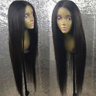360 Lace Frontal Indian Remy Human Hair Wig Straight Wave Wigs Unprocessed Black