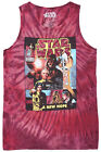 Star Wars New Hope Tank Top Tie Dye Burgundy Mens Disney $11.99 USD