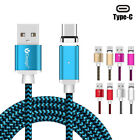 US Strong Magnetic Type-C Micro 3 in1 Fast Charging Cable Charger For iPhone Lot