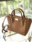 Michael Kors Womens Sandrine Stud Small Crossbody Bag Handbag Purse Leather New