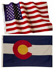 Colorado State and American Flag Combination, Made In USA, All Sizes, You Pick
