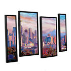 ArtWall 'Marcus/Martina Bleichner's Seattle Skyline with Space Needle' 4-piece
