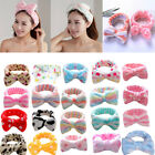 Lovely Women Girls Bow Knot Soft Hairband Head Wrap Towel Bath Spa Face Headband