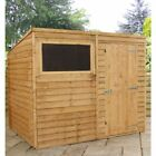 Mercia Overlap Pent Wooden Garden Shed - Choice of 7x5 / 8x6 / 10x6ft-From Argos