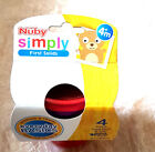 Nuby 4 Pk Stackable Coloured Food Pots and Lids 4 Mths + Bpa Free New
