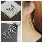 abstract fashion art - Hollow Human Face Dangle Earrings Women Abstract Art Studs Jewelry Gifts FASHION