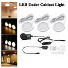 3PCS LED Under Cabinet Light Dimmable Closet Puck Lamp Home Kitchen Fixture Kit