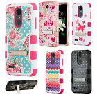 For LG Tribute Dynasty IMPACT TUFF IMPACT HYBRID KICKSTAND Cover + Screen Guard