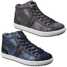 Divaz Steffy Ankle Boots Metallic Sneakers Ladies Fashion Trainers Womens Shoes