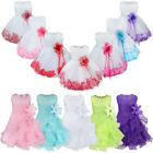 UK Petals Baby Flower Girls Dress Party Gown Wedding Bridesmaid Birthday Dresses