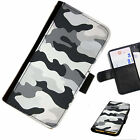CAMA04 CAMOUFLAGE PRINTED LEATHER WALLET/FLIP CASE COVER FOR MOBILE PHONE