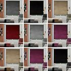Easy Fit Velvet Crushed Trimmable Roller Blinds Window Blind Made To Measure