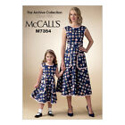 McCall's 7354 Sewing Pattern to MAKE Back Wrap Dress/Artisan Apron Adult orChild