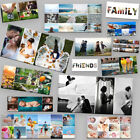 PHOTO CANVAS COLLAGE FRAMED PANORAMIC. ADD 1-12 PHOTOS. MANY SIZES. PERFECT GIFT