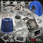 1.8T Audi Exhaust Stainless Steel Manifold .50Ar Turbo Filter Heat Cover Blue
