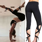 US Womens Yoga Fitness Capri Leggings Running Gym Workout Sports Trousers Pants