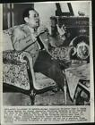 1962 Press Photo former Argentine dictator Juan Peron at his home in Madrid