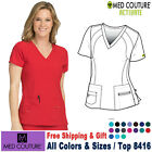 Med Couture Scrubs ACTIVATE Women's V-Neck Refined Sport Knit Top 8416
