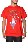 The Transformers Autobot T-Shirt Red Regular Fit Mens