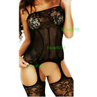 Women-Sexy-Lingerie-Body-Stocking-Sleepwear-Lace-Teddy-Dress-Babydoll-Nightwear