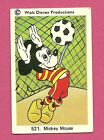 Mickey Mouse Soccer Goalkeeper Vintage 1970s Walt Disney Card from Sweden #521