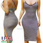 Women Bodycon Casual Sleeve Bandage Evening Party Cocktail Long Club Mini Dress
