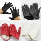 Faux Leather Women's PU Five Finger Half Palm Party Gloves Mittens US Local Ship