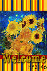 Watercolor Sunflower Under Galaxy Garden Flag Home Decor House Lawn Yard Banner