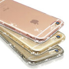 Luxury Ultra Thin Crystal Diamond Bling Gel Case Cover F iPhone SE 5S 6 S 6 Plus