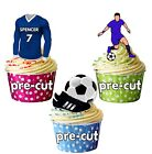 PRECUT Personalised Football Party Pack Cake Toppers Gillingham Colours