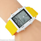 Womens Mens Dual Time Display Digital LED Chronograph Watch Sports Wristwatch BM