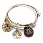 Boho Gold Womens Life tree Ring Love Charm Bangle Bracelet Punk Style Jewelry