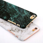 For iPhone 7 8 X Sumsung S8 S9 Glossy Hard Back Granite Marble Phone Case Cover
