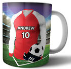 Football Personalised Gift - Any NAME & NUMBER SHIRT Stirling Albion Colours image