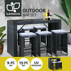 Gardeon 9/13pcs Outdoor Bar Table And Stools Set Chairs Patio Dining Furniture