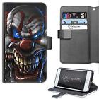 HAIRYWORM DARK HORROR CLOWN CIGAR LEATHER WALLET PHONE CASE, FLIP CASE, COVER