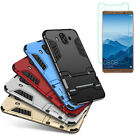 Hybrid Armor Shockproof Case Stand Cover + Screen Protector For Huawei Phones