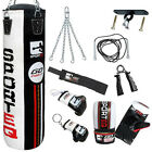 New Sporteq 3ft 4ft 5ft  Filled Heavy Boxing Punch Bag Kit Set Boxed Pack